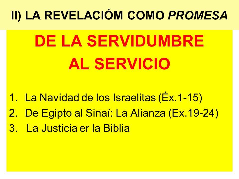 II) LA REVELACIÓM COMO PROMESA
