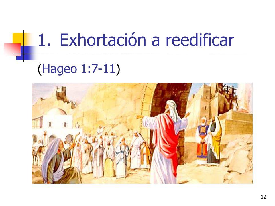 Exhortación a reedificar