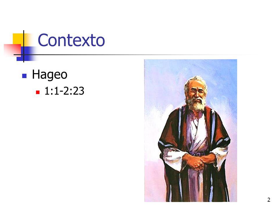 Contexto Hageo 1:1-2:23