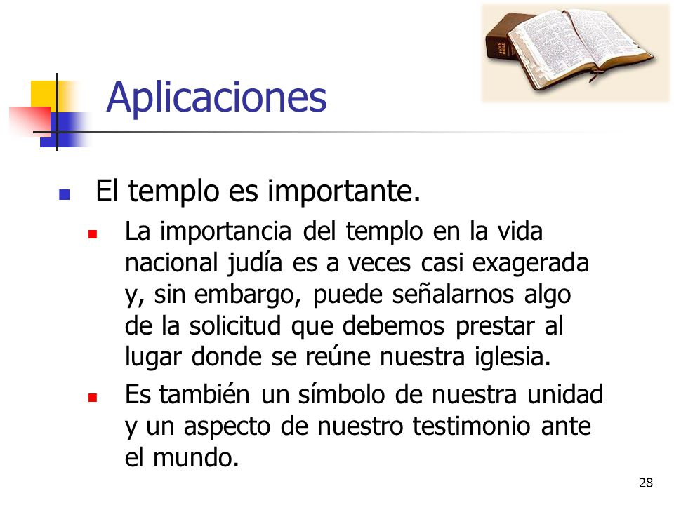 Aplicaciones El templo es importante.
