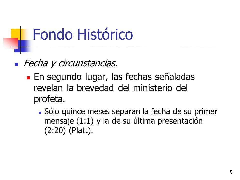 Fondo Histórico Fecha y circunstancias.