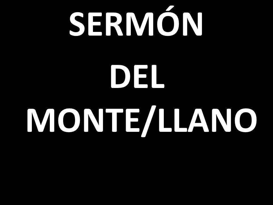 SERMÓN DEL MONTE/LLANO