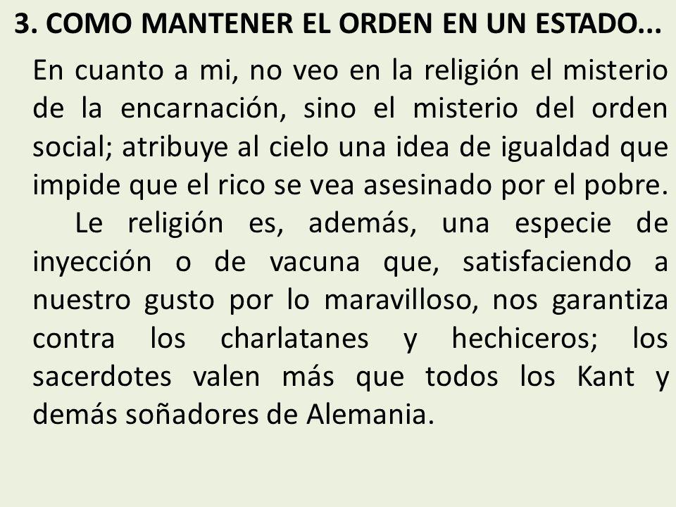 3. COMO MANTENER EL ORDEN EN UN ESTADO