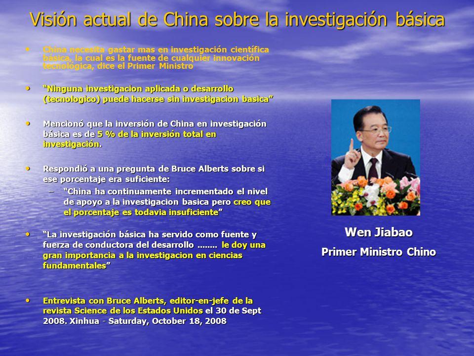 Visión actual de China sobre la investigación básica