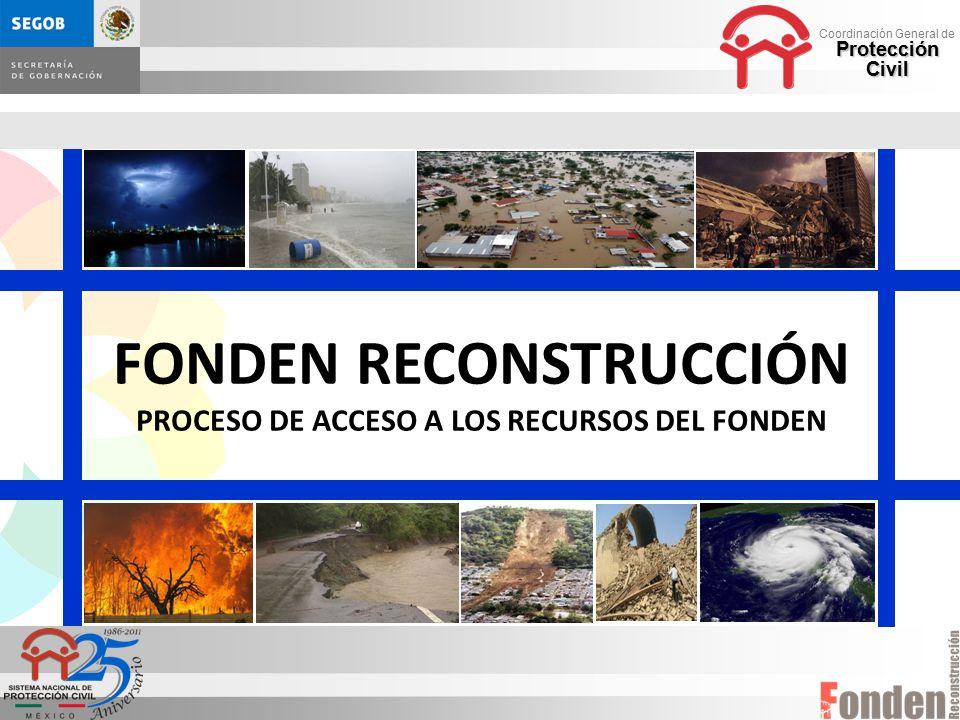 FONDEN RECONSTRUCCIÓN PROCESO DE ACCESO A LOS RECURSOS DEL FONDEN