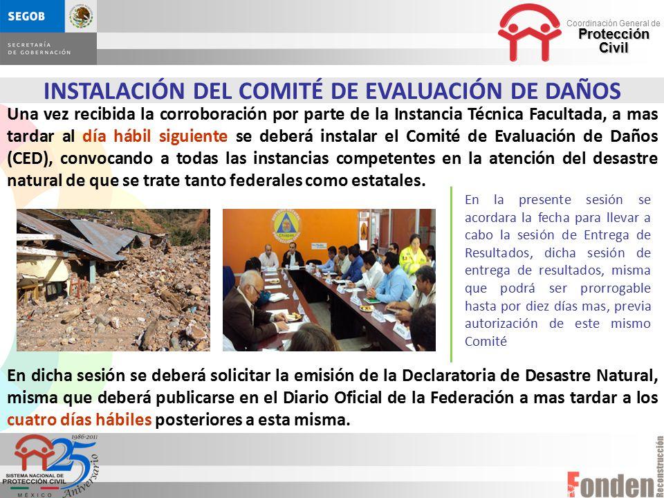 INSTALACIÓN DEL COMITÉ DE EVALUACIÓN DE DAÑOS
