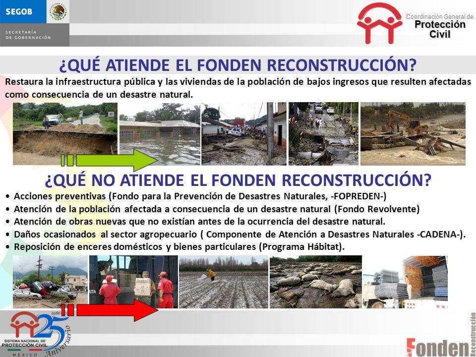 ¿QUÉ ATIENDE EL FONDEN RECONSTRUCCIÓN