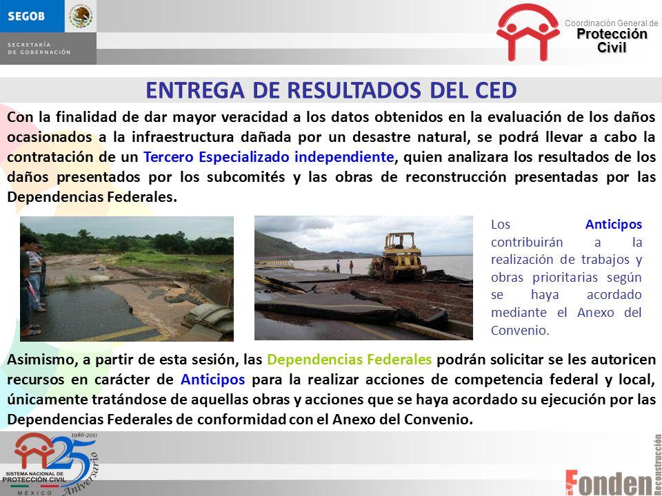 ENTREGA DE RESULTADOS DEL CED