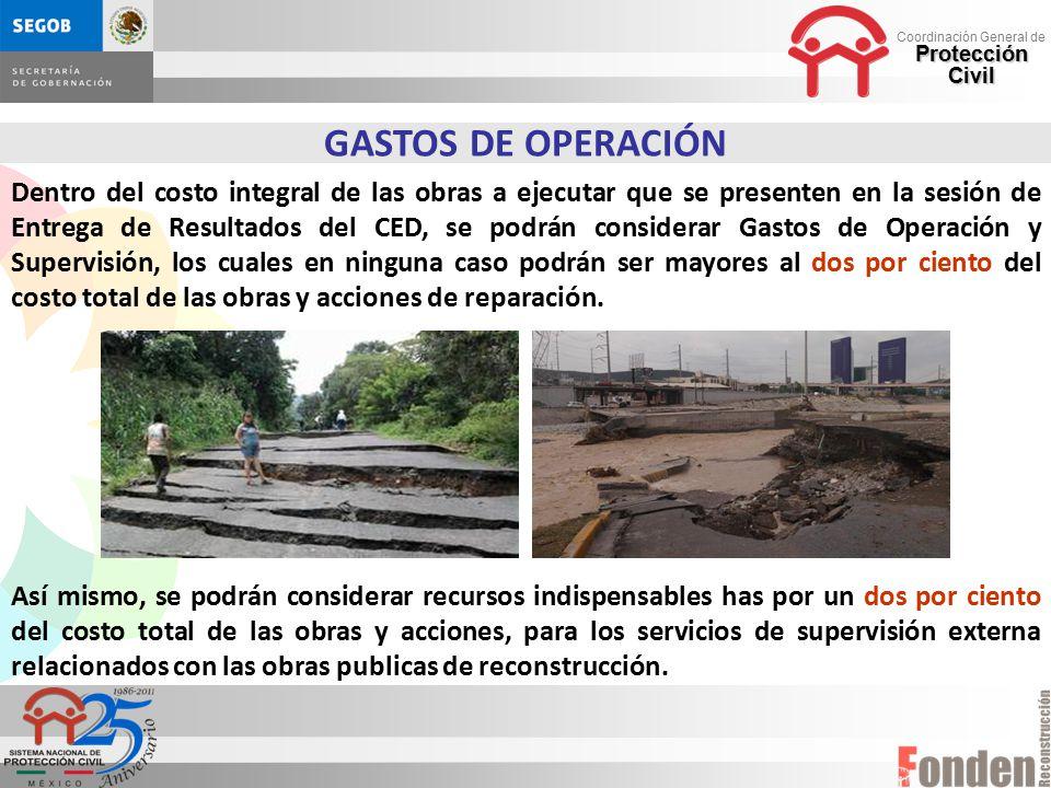 GASTOS DE OPERACIÓN
