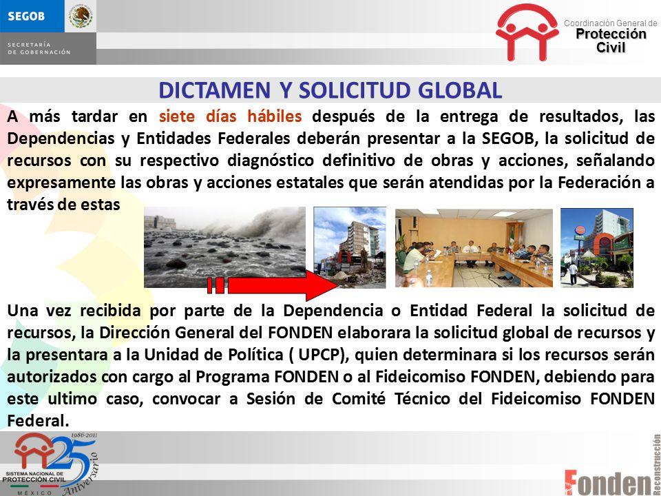 DICTAMEN Y SOLICITUD GLOBAL