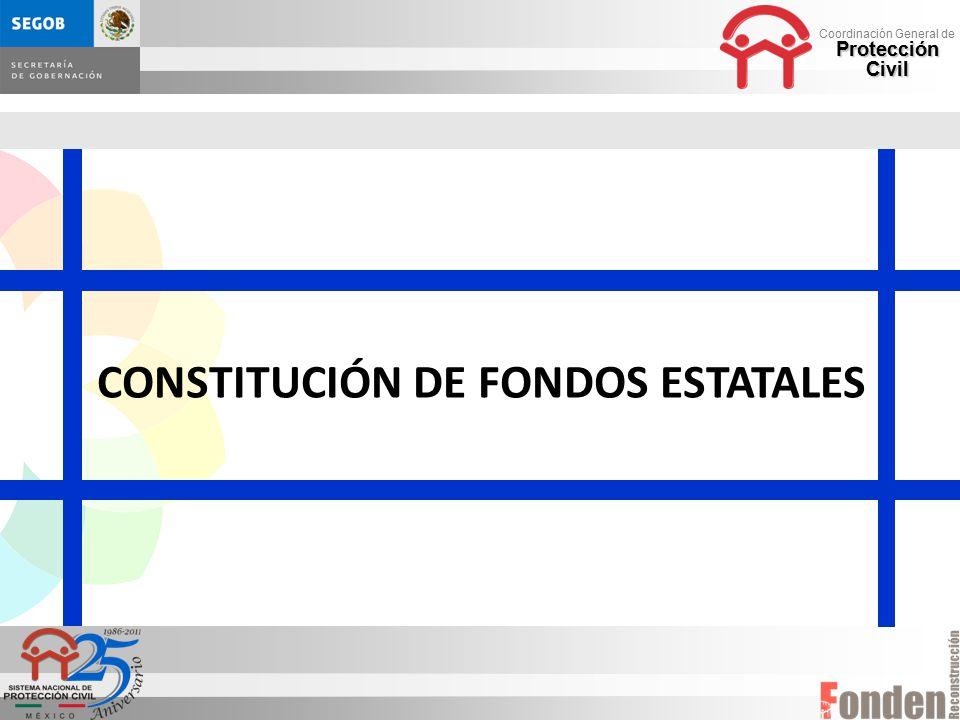 CONSTITUCIÓN DE FONDOS ESTATALES