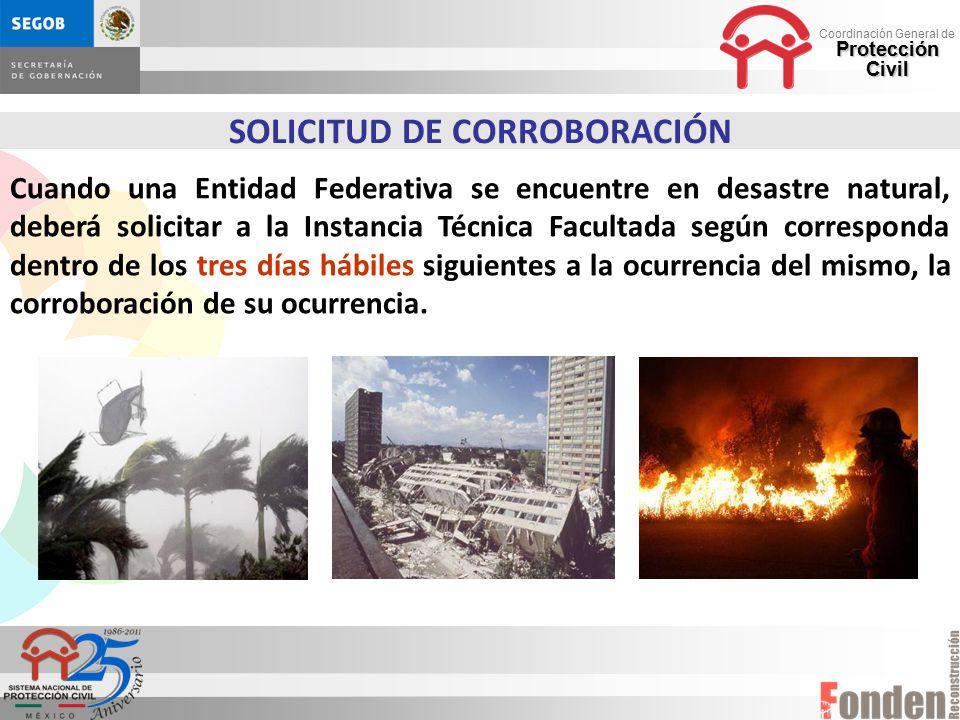 SOLICITUD DE CORROBORACIÓN