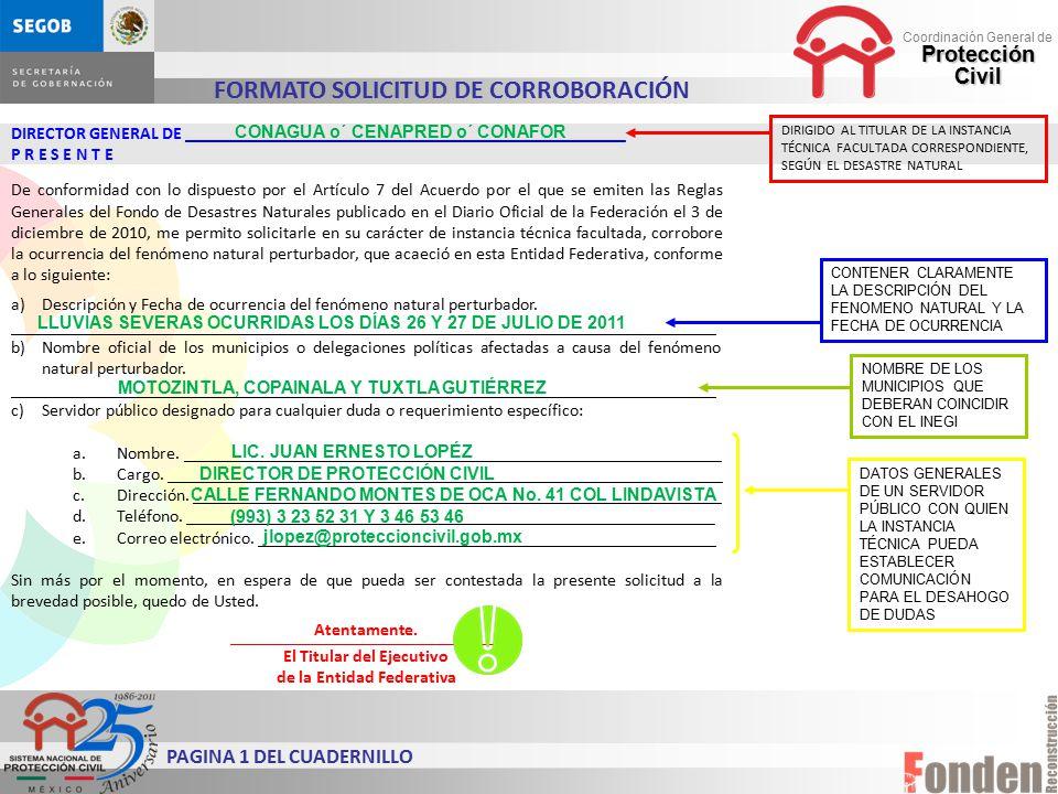 FORMATO SOLICITUD DE CORROBORACIÓN