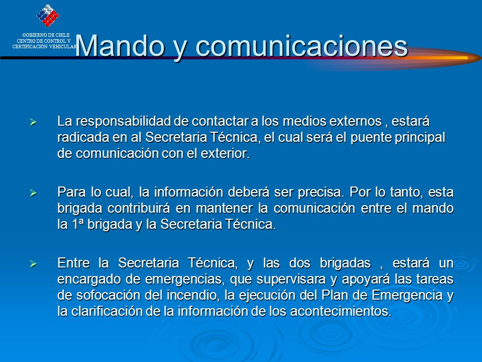 Mando y comunicaciones