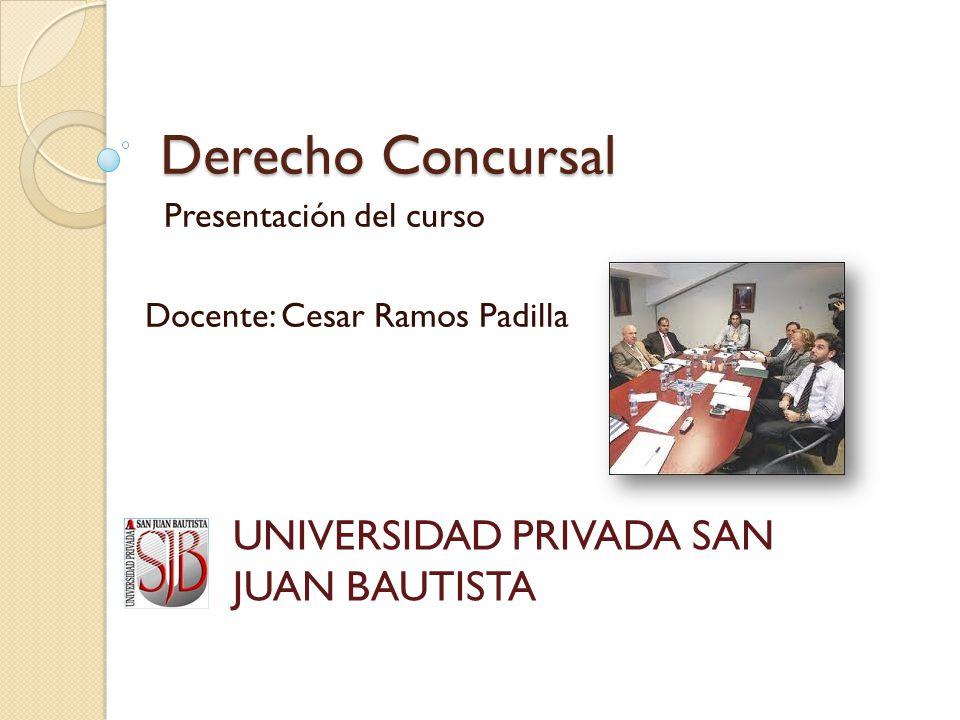 Presentación del curso Docente: Cesar Ramos Padilla