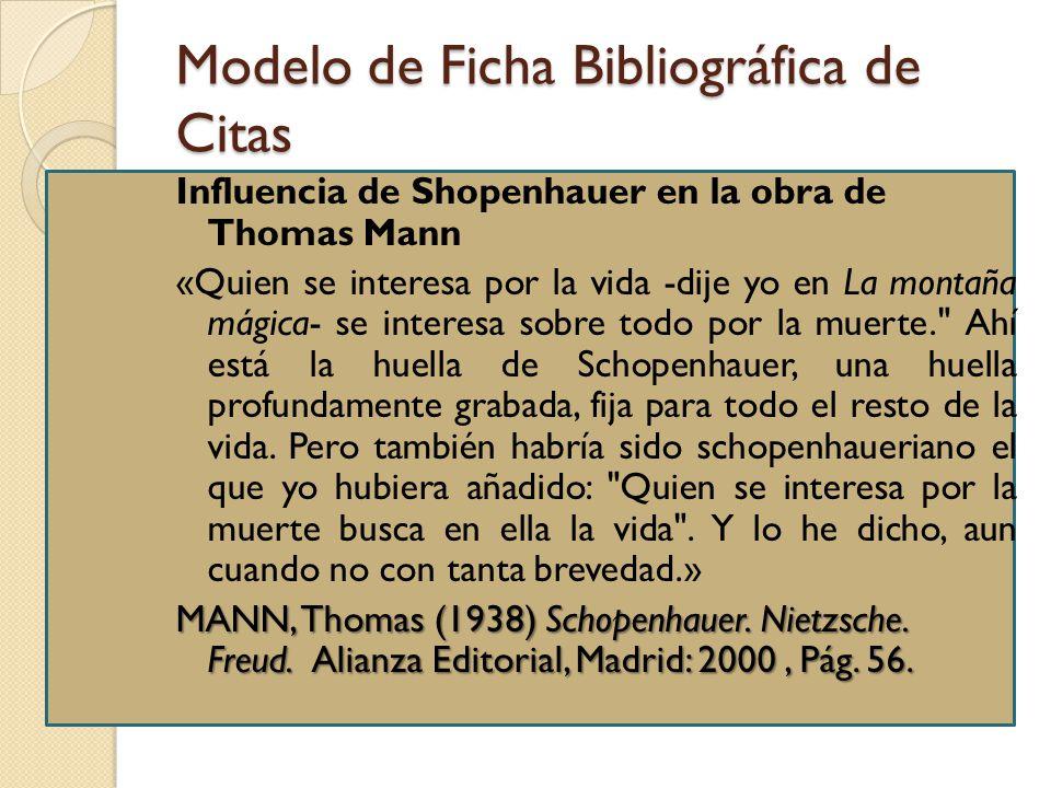 Modelo de Ficha Bibliográfica de Citas
