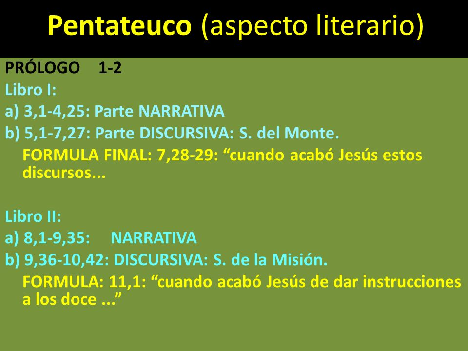 Pentateuco (aspecto literario)