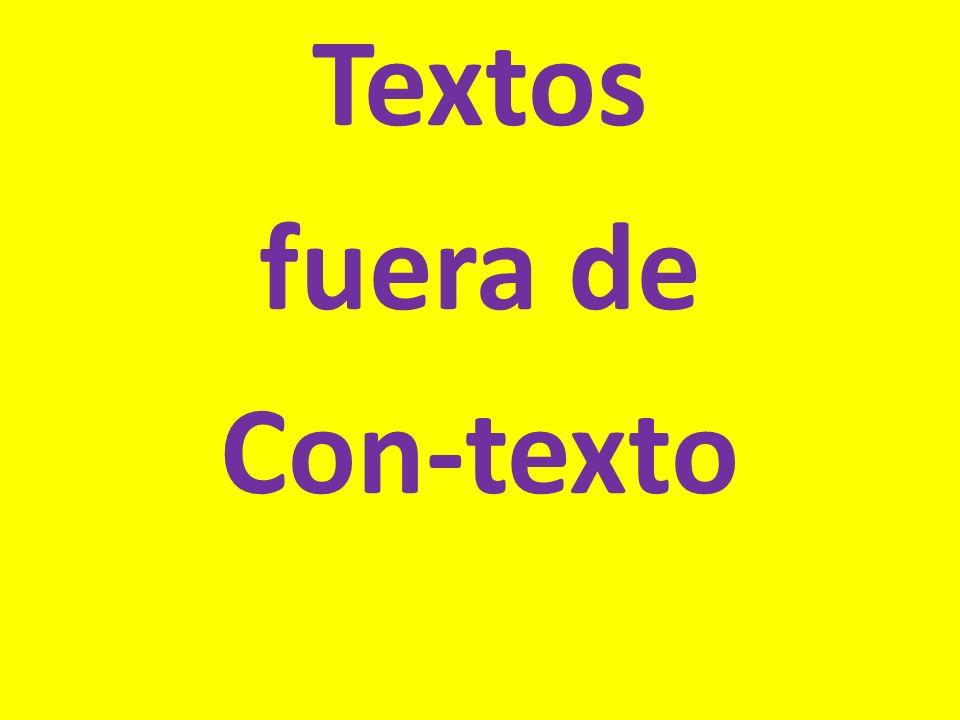 Textos fuera de Con-texto