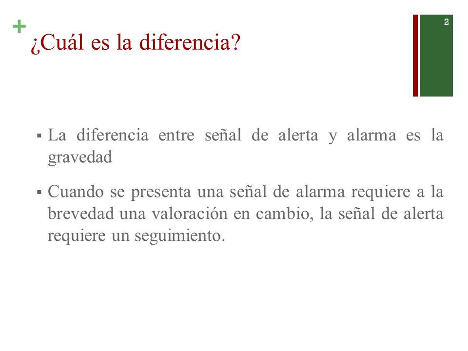 ¿Cuál es la diferencia La diferencia entre señal de alerta y alarma es la gravedad.
