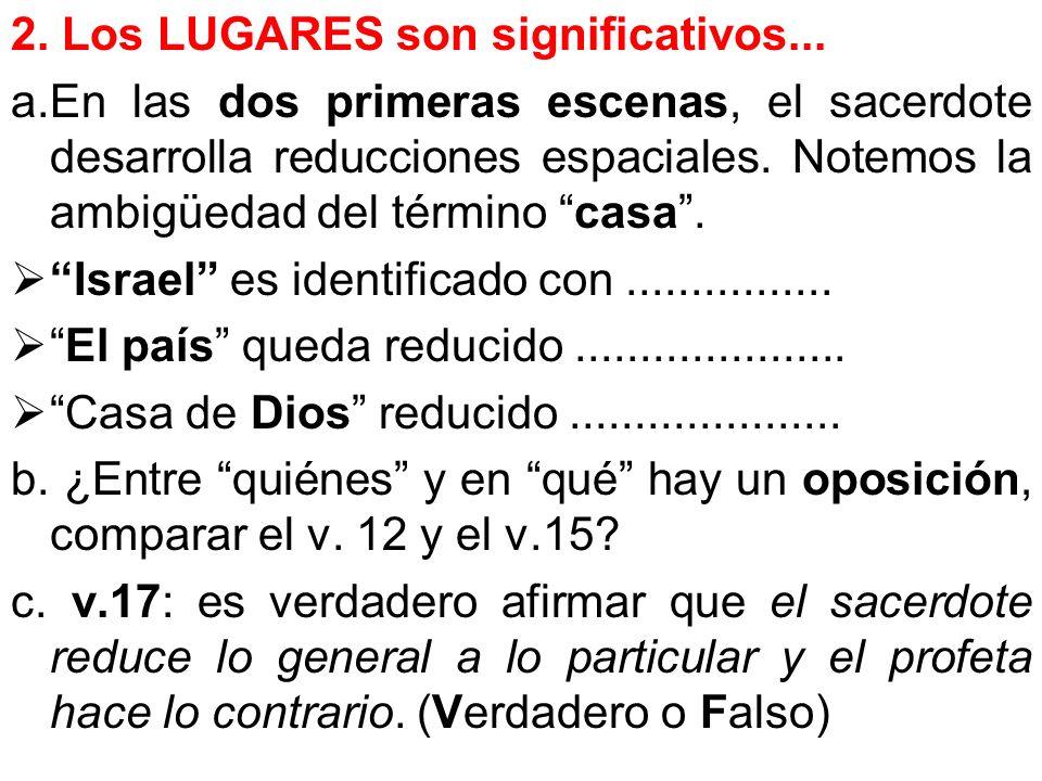 2. Los LUGARES son significativos...