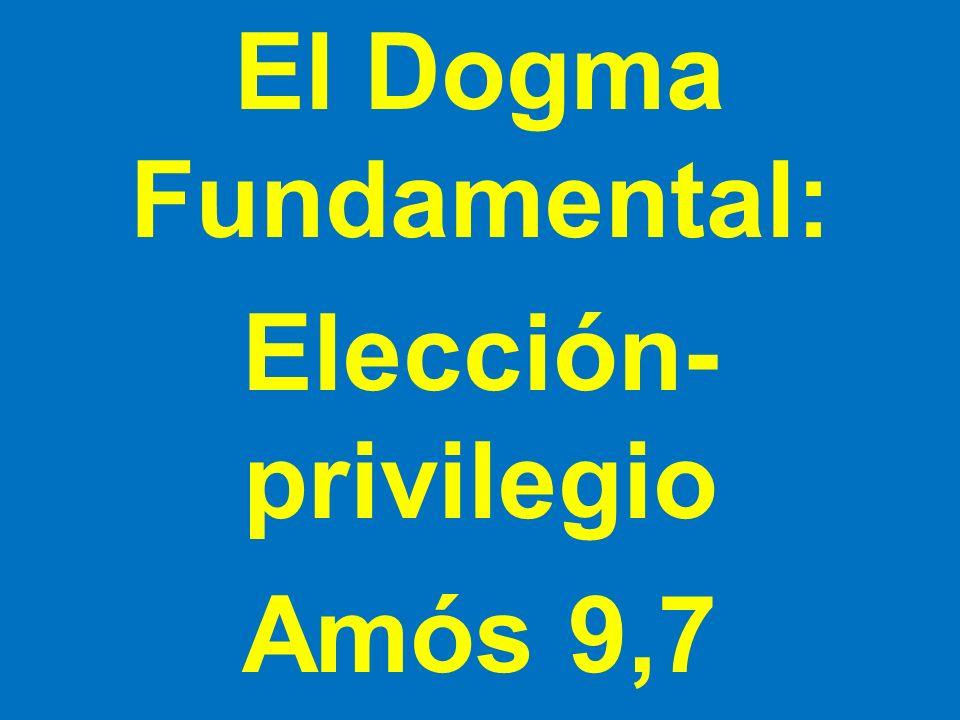 El Dogma Fundamental: Elección-privilegio Amós 9,7