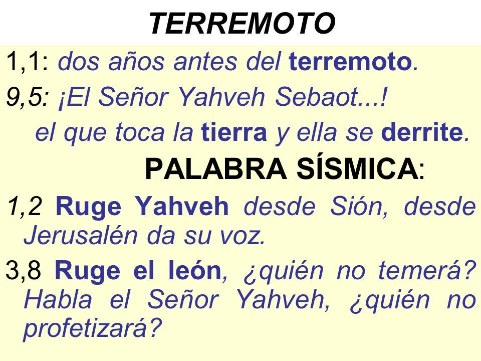 TERREMOTO PALABRA SÍSMICA: 1,1: dos años antes del terremoto.