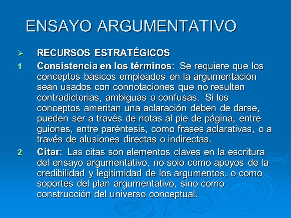 ENSAYO ARGUMENTATIVO RECURSOS ESTRATÉGICOS