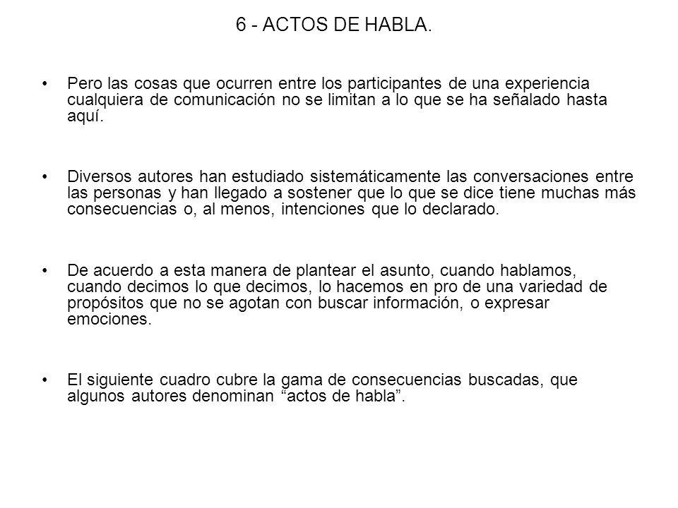 6 - ACTOS DE HABLA.