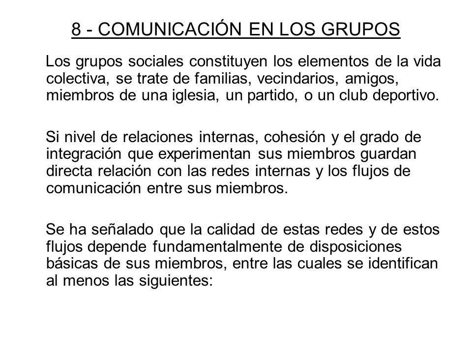 8 - COMUNICACIÓN EN LOS GRUPOS