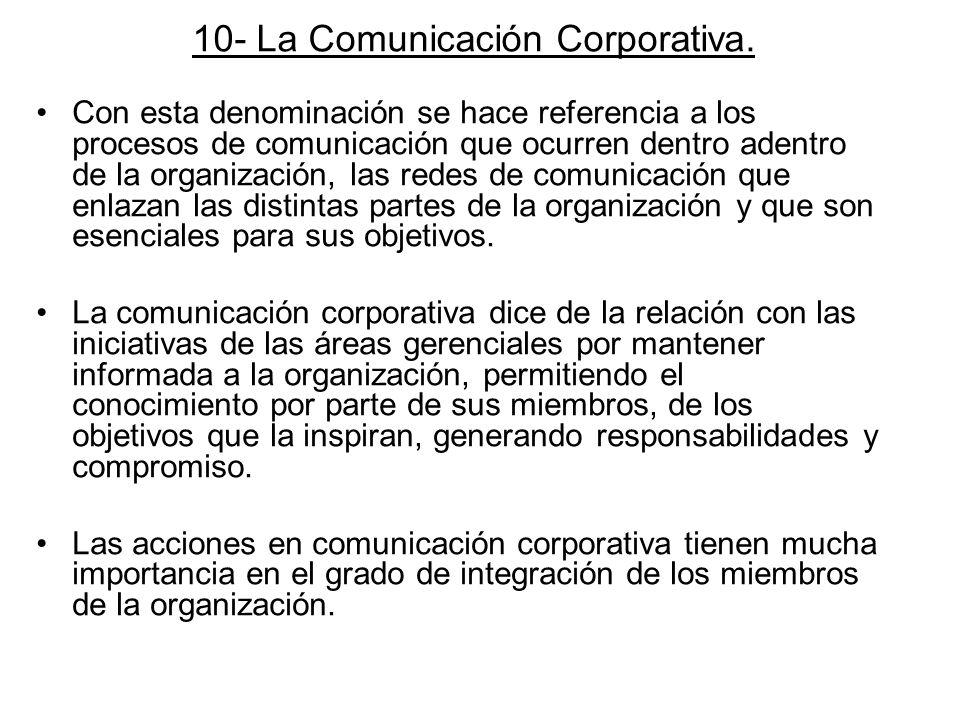 10- La Comunicación Corporativa.