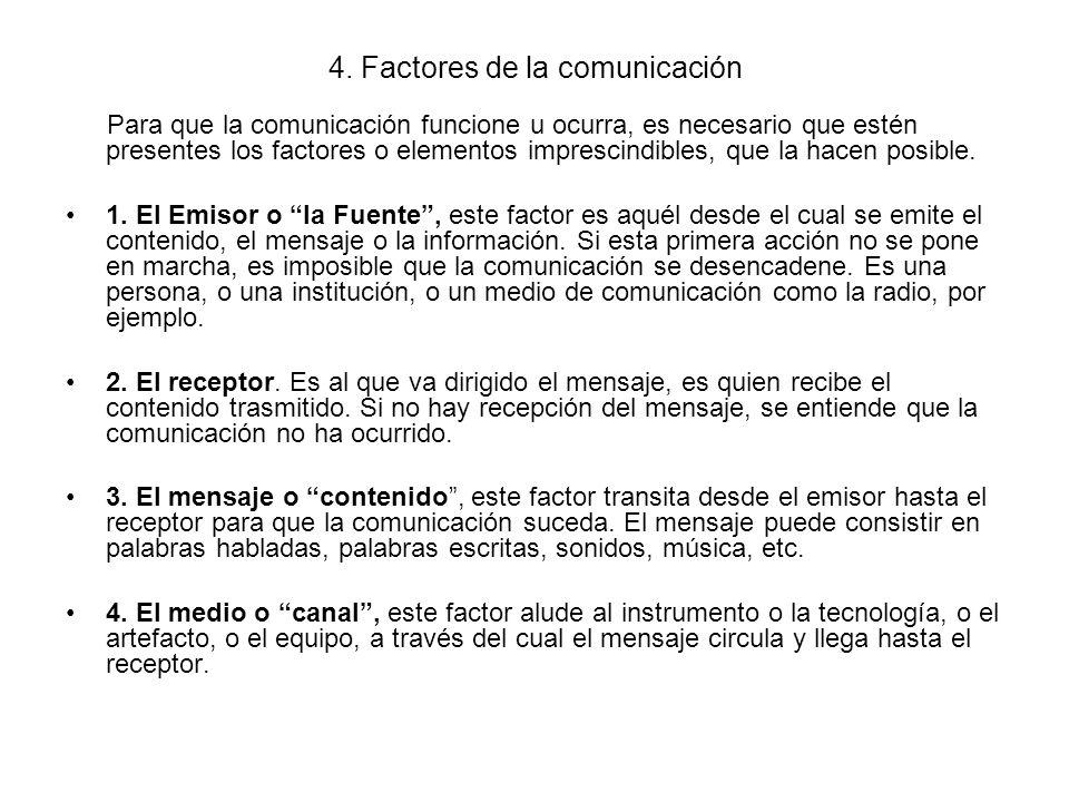 4. Factores de la comunicación