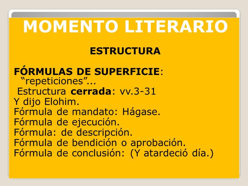 MOMENTO LITERARIO ESTRUCTURA FÓRMULAS DE SUPERFICIE: repeticiones ...