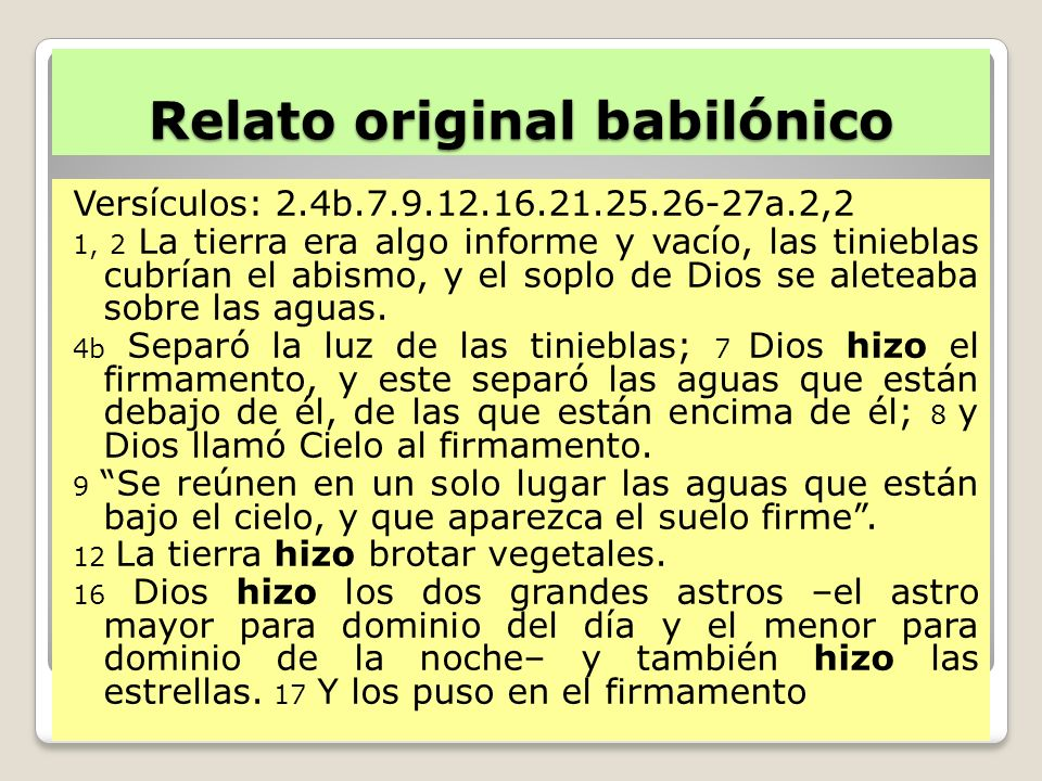 Relato original babilónico