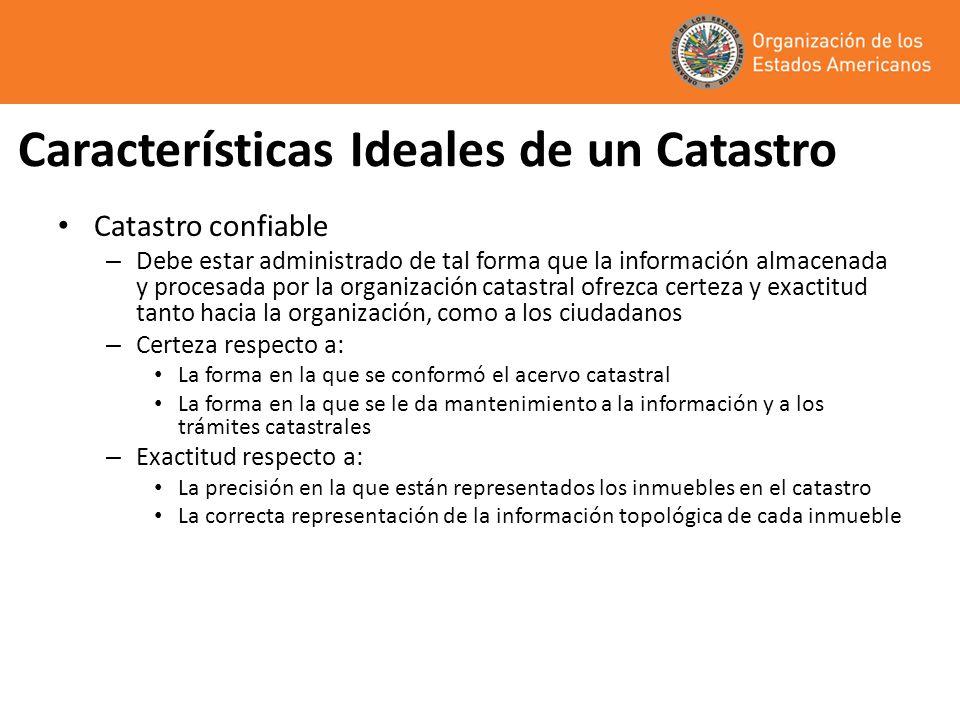 Características Ideales de un Catastro