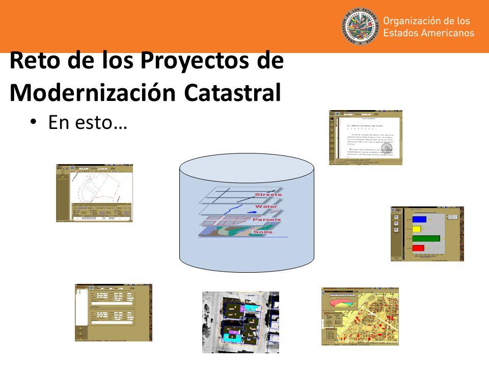 Reto de los Proyectos de Modernización Catastral