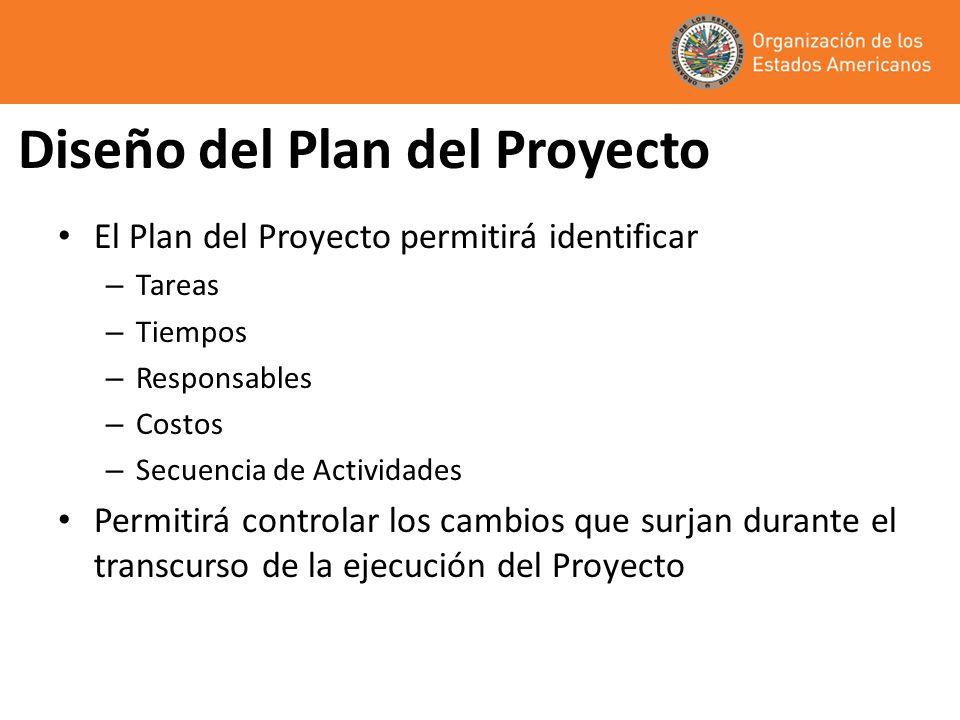 Diseño del Plan del Proyecto