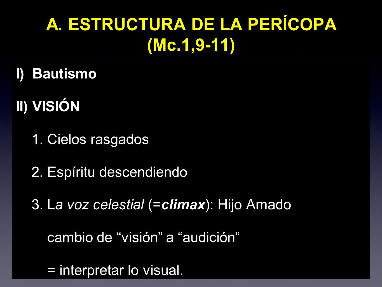 A. ESTRUCTURA DE LA PERÍCOPA (Mc.1,9-11)