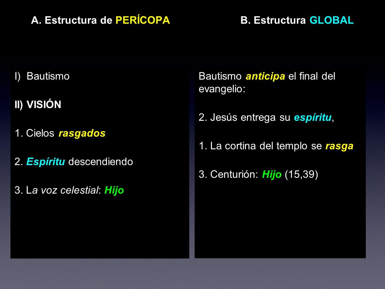 A. Estructura de PERÍCOPA B. Estructura GLOBAL