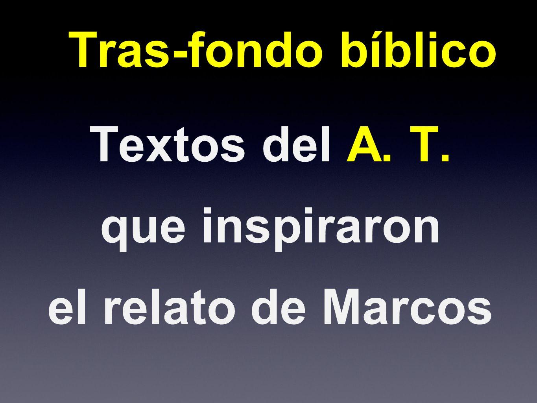 Textos del A. T. que inspiraron el relato de Marcos