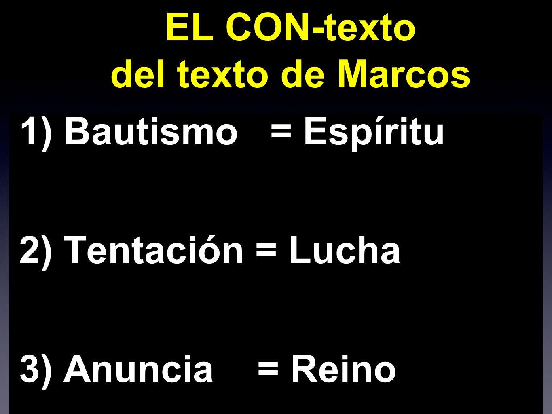 EL CON-texto del texto de Marcos