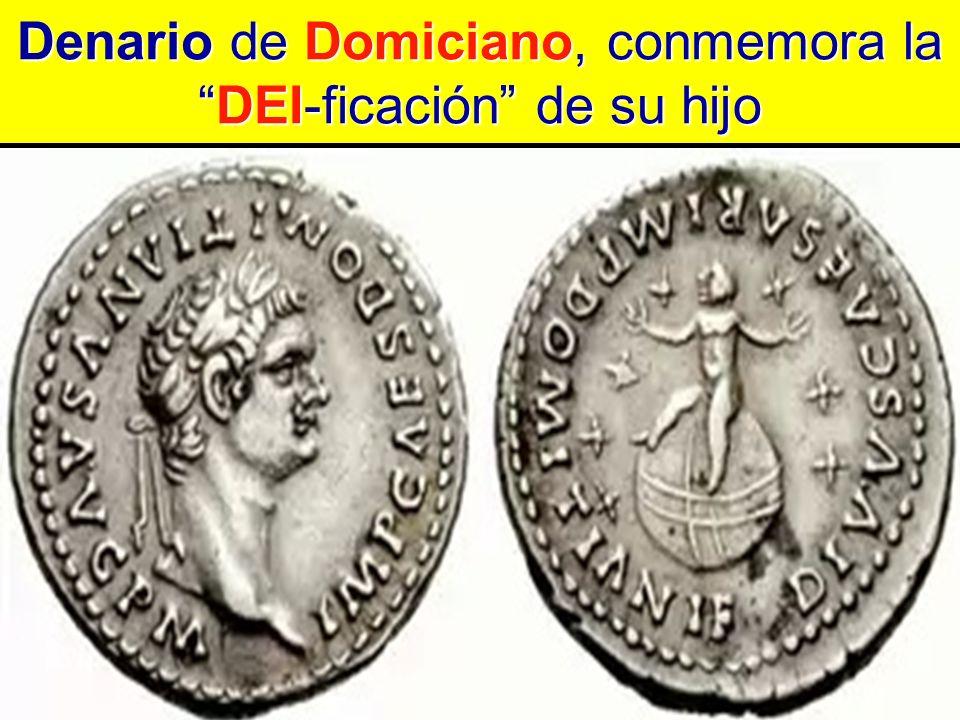 Denario de Domiciano, conmemora la DEI-ficación de su hijo