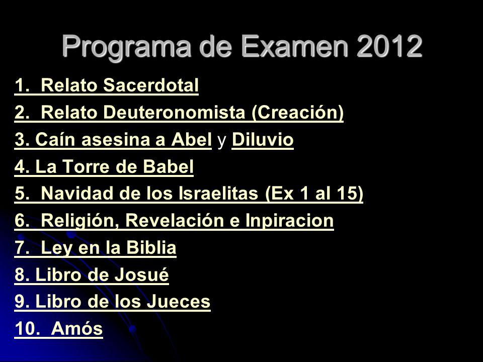 Programa de Examen 2012