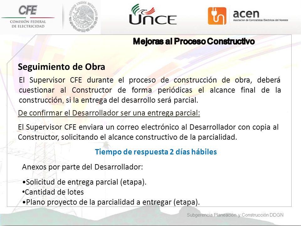 Seguimiento de Obra Mejoras al Proceso Constructivo