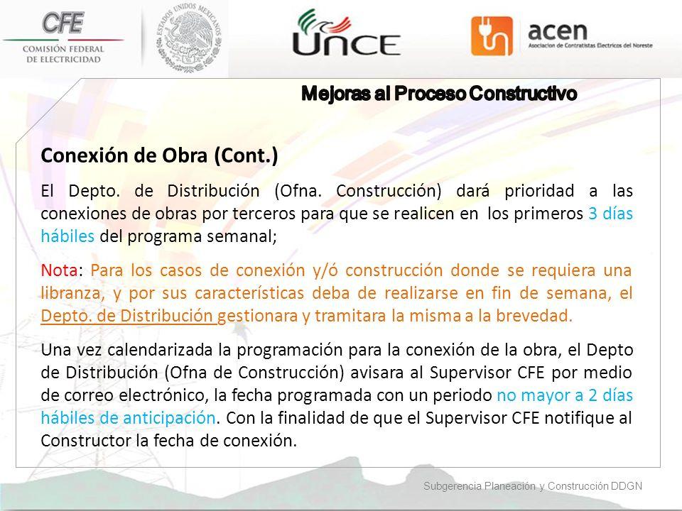 Conexión de Obra (Cont.)