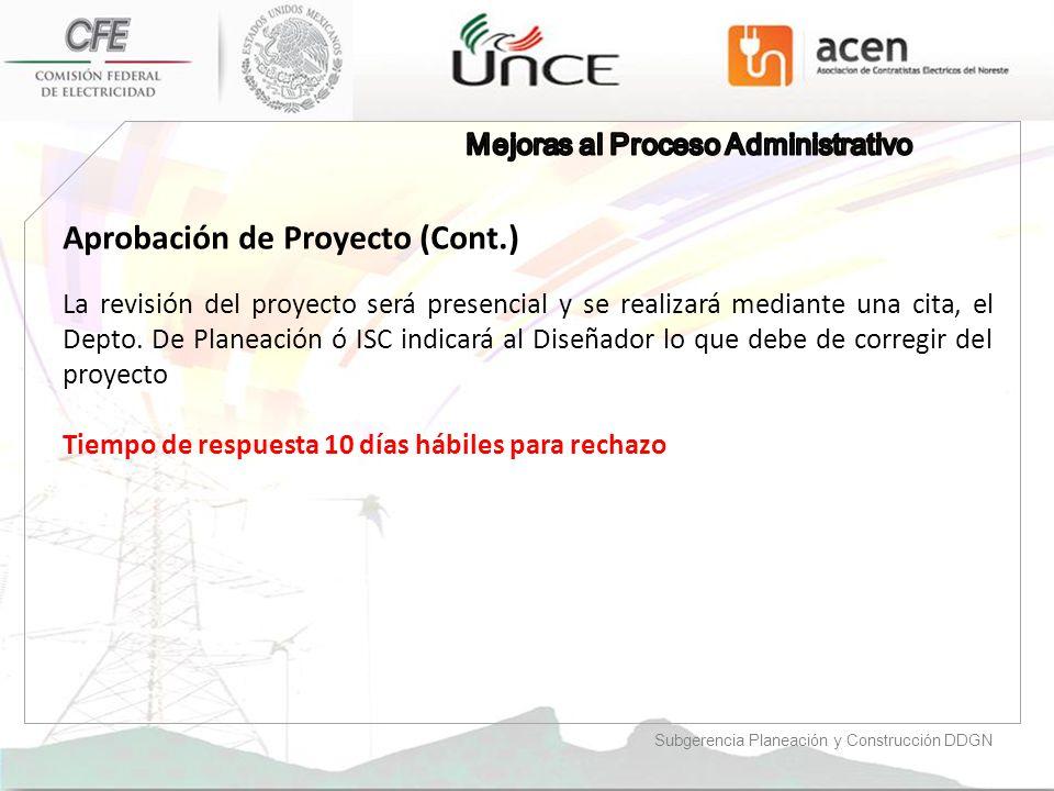 Aprobación de Proyecto (Cont.)
