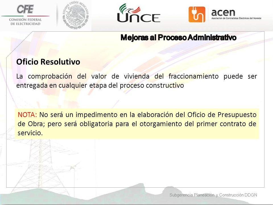Oficio Resolutivo Mejoras al Proceso Administrativo