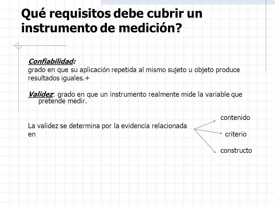 Qué requisitos debe cubrir un instrumento de medición