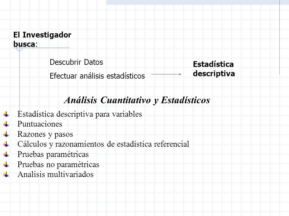 Análisis Cuantitativo y Estadísticos