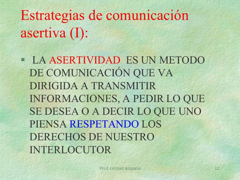 Estrategias de comunicación asertiva (I):