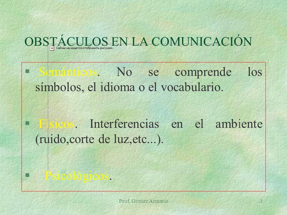 OBSTÁCULOS EN LA COMUNICACIÓN